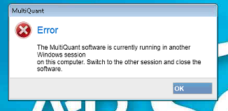 MultiQuant running in another Windows session