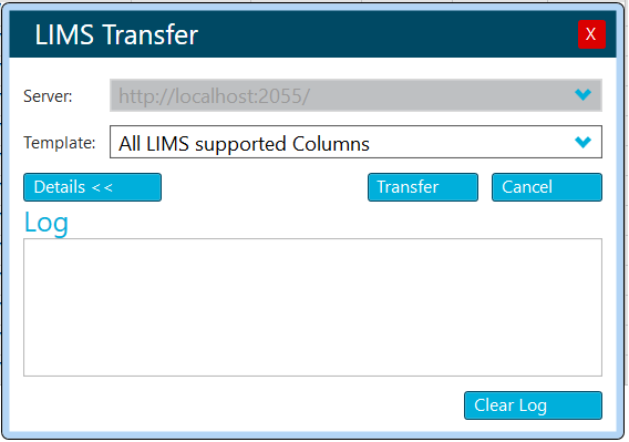 LIMS transfer Sciex OS all